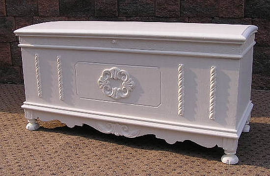 Greyhound Shipping Quote >> White Blanket Cedar Chest - Shabby Vintage Chic Painted ...